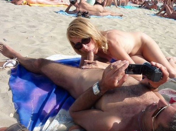 Blowjob am strand